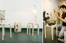 IKEA Hacking Collectives - Surtido de Mutacione Takes Boxed IKEA Parts & Makes New Creations