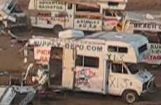 Motor Home Demolition Derbies - Orange County Runs a Hicktastic Event for Their Fair