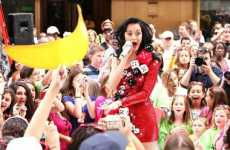 Dice Dresses - Katy Perry's One-Shouldered Sequined Number is Las Vegas-Approved