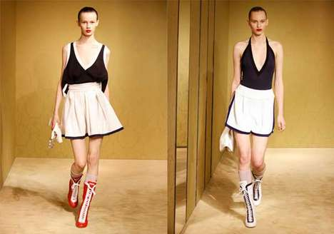 High-Heeled Boxer Boots - Prada Cruise 2010 Blends Sportswear & Beachwear