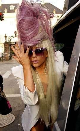 Purple Beehive Hair