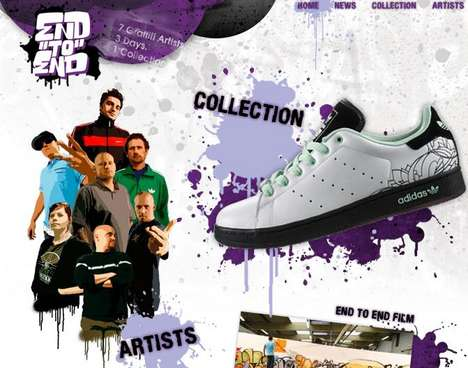 Adidas Embraces Graffiti - 7 Top Graffiti Artists Commissioned to Plaster Subway