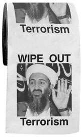 Terrorist Toilet Paper - Flush Down the Enemy with Political Spoof Wipes