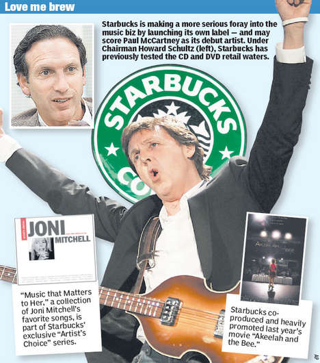 Corporate Funded Music - Starbucks to Launch Record Label With Paul McCartney
