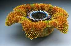 Pencil Sculpture is Fearsome but Beautiful
