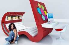 The Wave Chaise With Built in TV