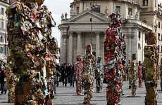 German Artists Create 1000 Statues From Domestic Refuse