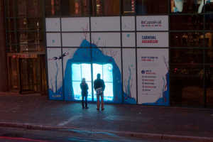 Carnival Cruise Lines Storefront Sea Display Lets You Engage With Custom Fis