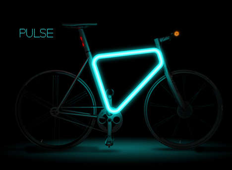 Illuminated Urban Bikes - The Teague Pulse Concept Makes Your Ride Glow
