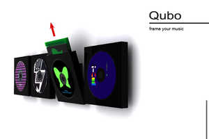 The Qubo Lets You Frame and Flaunt Your Old School Music Tracks