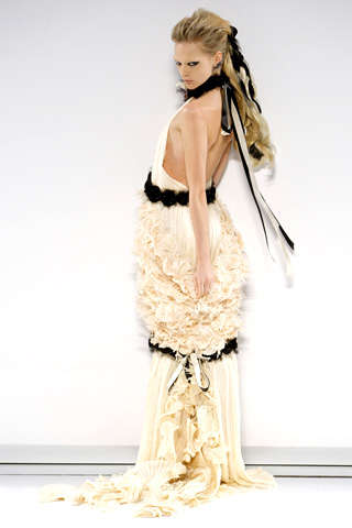 Black Accented Wedding Gowns - Gowns With Bridal Potential from the 2009 Haute Couture & Resort Coll