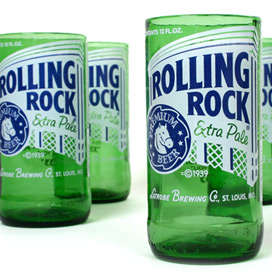 Recycled Beer Glasses - Corona & Rolling Rock Beer Bottles As  Unique Branded Cups