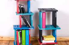Convertible Bookcases - The Bookspile Bookshelf Features Quirky Configurations