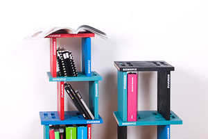The Bookspile Bookshelf Features Quirky Configurations