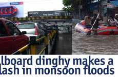 Life-Saving Adverboats - Aircel Billboard Saves People From Monsoon Floods in Mumbai