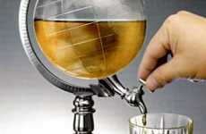 Grown-Up Coolers - The World Globe Liquor Dispenser is for Well-Traveled Drinkers