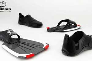Two-in-One Amphibian Lifeguard Rescue Fins