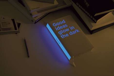Glowing Books - 'Good Ideas Glow in the Dark' by the Adris Group Literally Lights Up