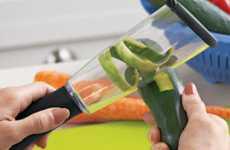 Kitchen Scrap Catchers - The Veggie-Peel Keeps Counters Clean