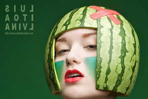 Creative Cosmetics Turn Your Face into a Watermelon