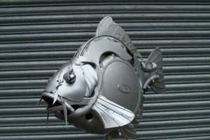 Car Parts Get Upcycled into Art Pieces