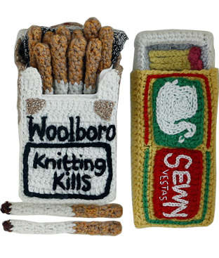Knitted Cigarette Packs - Kate Jenkins' Crafty Smoking Souvenirs Swap Nicotine for Wool