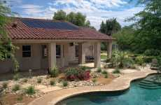 Low-Profile Solar Panels - SRS Energy Sole Power Tile Blends in Seamlessly