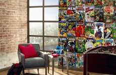 The Marvel Comic Book Cover Mural Makes for Geektastic Decor