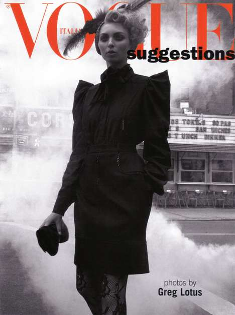Smokey Street Fashiontography - Vogue Italia Suggestions Creates a Foggy Booze Editorial