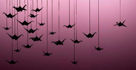 Paper Crane Curtains