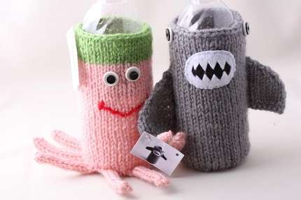 Knit Water Bottle Covers