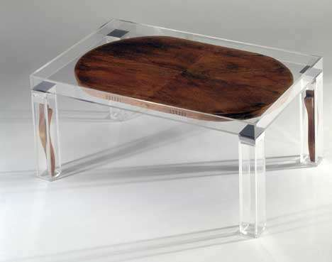 Glass-Cased Commodes - Clear 'Furniture With Memory' Takes Your Decor Back to The Future