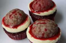 Anatomical Cupcakes - Moist Brain Treats for Sweet-Toothed Zombies