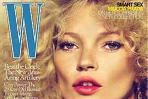 Kate Moss Channels 80s Style for September Issue of W Magazine