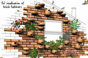 'Brick Habitats' Create Bird Residences & Planters on Your House