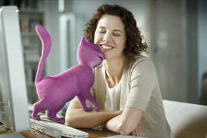 Whiskas Replaces Real Cats With 3D Purple Feline in Commercials