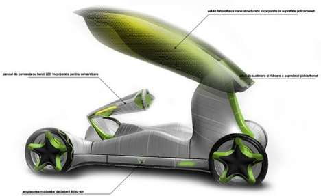 Crocus-Inspired Vehicles - Bionic Concept Car Brings Plants and Technology Together