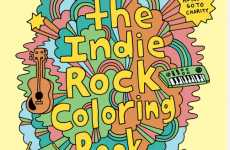 Hipster Activity Books - The Indie Rock Coloring Book Pleases Subculture Fanatics