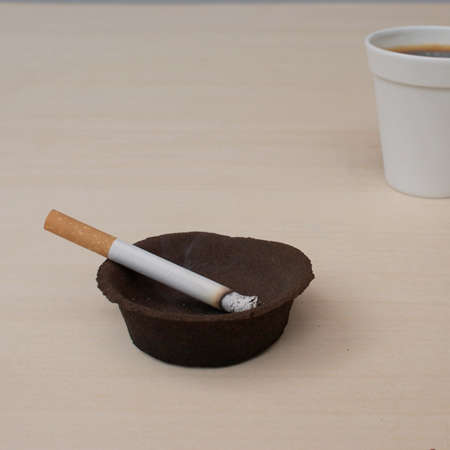 Ashtrays From Coffee Grounds