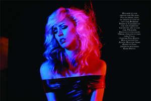 Raquel Zimmermann is Deborah Harry for 'Blondie' in Vogue Paris