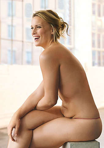 Models With Belly Flab - Lizzie Miller Nixes Airbrushing & Goes Au Naturale in Glamour