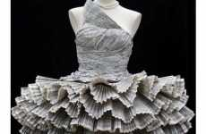 35 Ways to Wear Paper - From Toilet Paper Wedding Gowns to Phone Book Party Dresses
