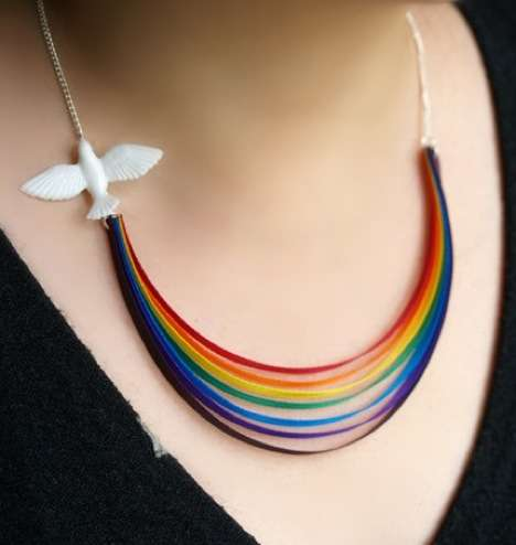 Uplifting Rainbow Necklaces - Mixko's 'Here Comes the Sun' Necklace Spreads Sunshine Stylishly