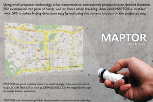 The Maptor Shines On a Wall to Show You the Way
