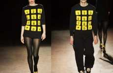 Keypad Knits - 'Phone Dial' Sweater and Mini Dress From Jeremy Scott