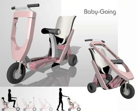 Hybrid Scooter-Strollers - Baby-Going is Fun for Both Mom and Child