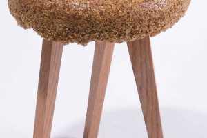 Yoav Avinoam's 'Shavings' Stool Makes Use of Waste and Dust