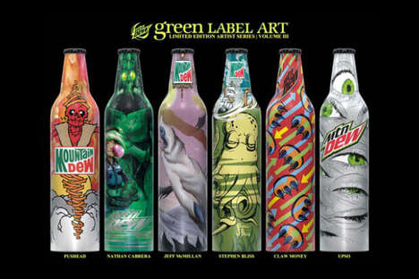 Pop Surrealism Packaging - Mountain Dew's Green Label Art Volume 3