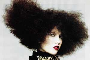 Karlie Kloss Wears Super-Sized Hair for September Vogue