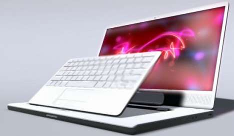 Laptops for Designers - Victor Bivol's Keyboard Concept Turns Into a Tablet